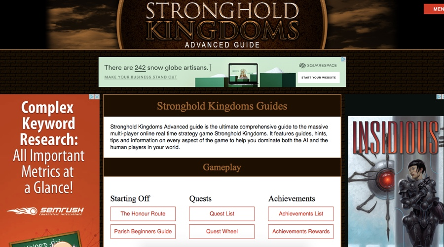 stronghold kingdoms advanced guide