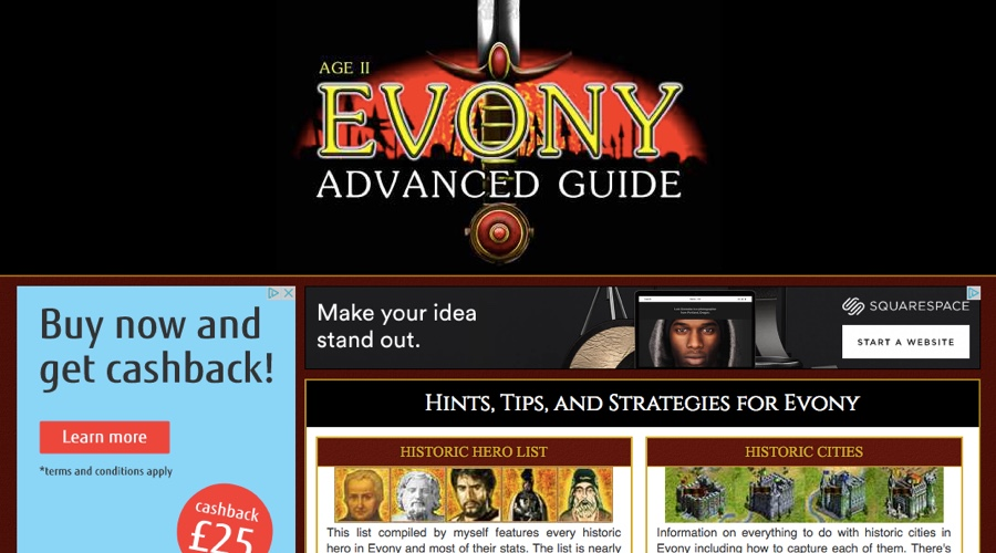 evony advanced guide